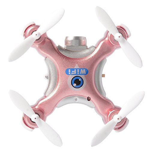 CEStore Cheerson CX-10W 4CH 2.4GHz 6 Axis Gyro IOS/Android APP WIFI Remote Control Real Time Video 360 Degree Rotation 3D Flip Mini RC Quadcopter Helicopter Drone with 0.3MP HD Camera - Rosy