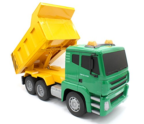 Transformania Toys RC Construction Remote Control Dump Truck. 7 Function RC Earth Mover, 27 MHz