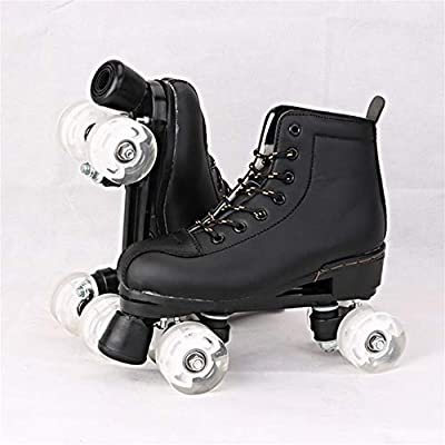 XIANGNAIZUI Artificial Leather Roller Skates Double Line Skates Women Men Adult Two Line Skating Shoes Patines with White PU 4 Wheels : Sports & Outdoors