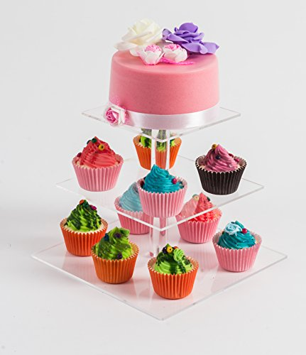 Tiers Square Acrylic Cupcake Stand