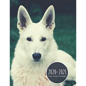 2020-2021 Two Year Planner: White German Shepherd Planner January 1, 2020 to December 31, 2021 Weekly & Monthly Planner + Calendar Views 2 Year Dog ... Agenda Planner Gift For German Shepherd Lover 3