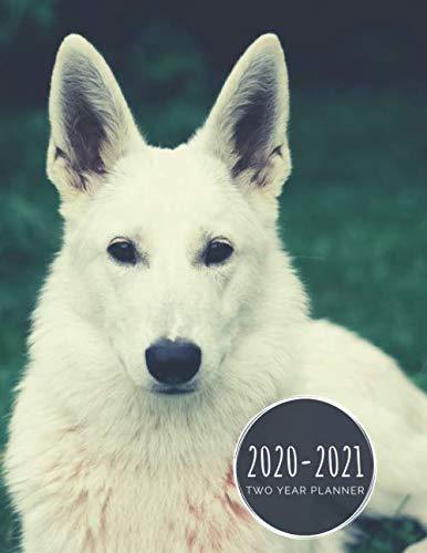 2020-2021 Two Year Planner: White German Shepherd Planner January 1, 2020 to December 31, 2021 Weekly & Monthly Planner + Calendar Views 2 Year Dog ... Agenda Planner Gift For German Shepherd Lover 1
