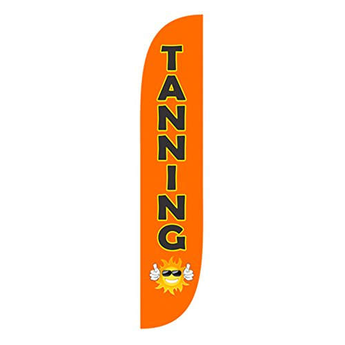 (LookOurWay Tanning Feather Flag, 12-Feet )