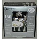 """Reflections Heavyweight """"Looks Like Silver"""" Disposable Flatware for 40 with BONUS Pack of 40 Forks – 160 Pieces in All, Health Care Stuffs"""