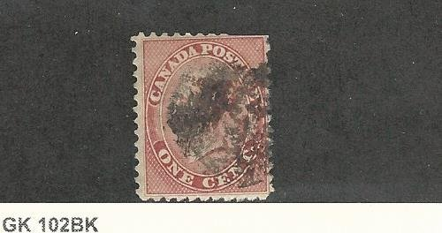 Canada, Postage Stamp, 14 Used, 1859