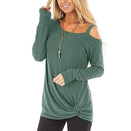 Fshinging Womens Leopard Pocket Pullover Tops Autumn Blouses Long Sleeves T Shirt V Neck Leopard Basic Tee