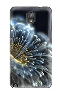 Premium Galaxy Note 3 Case - Protective Skin - High Quality For Electric Flower