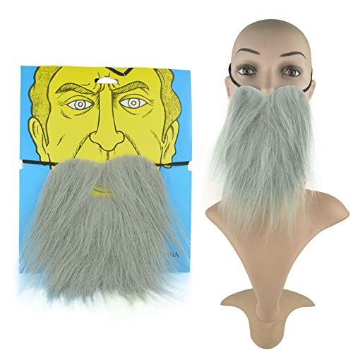 GUANLIAN Elastic Fake Beard and Moustache Simulation Man's Beard for Prom Party Halloween Cosplay Game]()