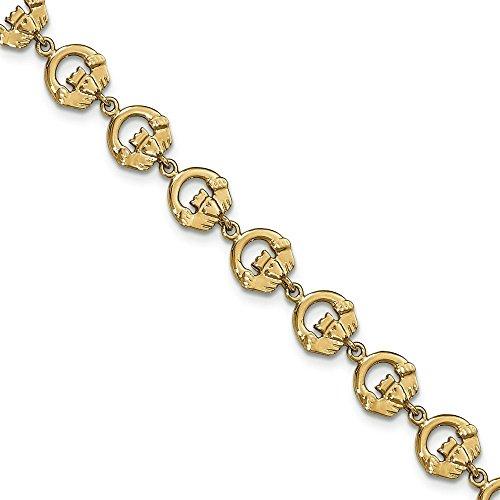 Bague de Claddagh 14 carats Bracelet JewelryWeb 7,5 cm