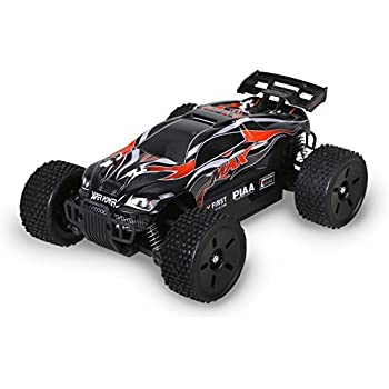 Holy Stone HS007 Remote Control Car High Speed Off-Road RC Racing Truck 1/16 2.4G 4WD RTR Includes Bonus Battery, Color Red