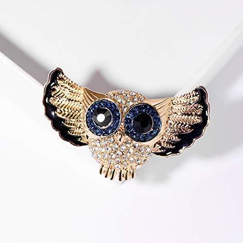 YYOGG Brooch Atmospheric Fashion Owl Brooch European and American Animal Brooch Coat Accessories