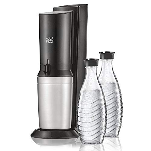 SodaStream Aqua Fizz Soda Maker Starter Kit, Black (Soda Stream Machine)