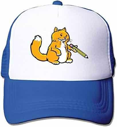 92eaa3c3885 Cat Pencil Adjustable Sports Mesh Baseball Caps Trucker Cap Sun Hats