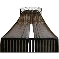 Octorose Metal Wall Teester Bed Canopy Drapery Crown Hardware (Bronze(31.5Wx14Dx9.5H))