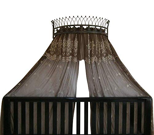Octorose Metal Wall Teester Bed Canopy Drapery Crown Hardware (Bronze(31.5