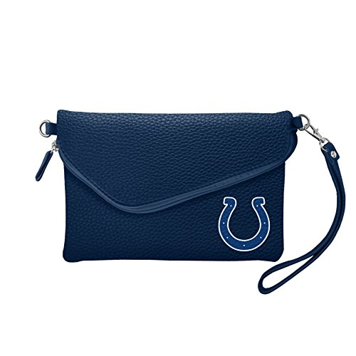 NFL Indianapolis Colts Pebble Fold Over Crossbody Purse