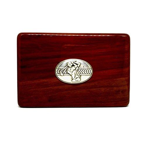 Golfer Business Card Holder - Rosewood Business Card Box