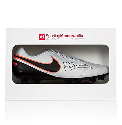 Michael Owen Signed Football Boot Nike Tiempo Gift Box Autograph Cleat Autographed Soccer Cleats