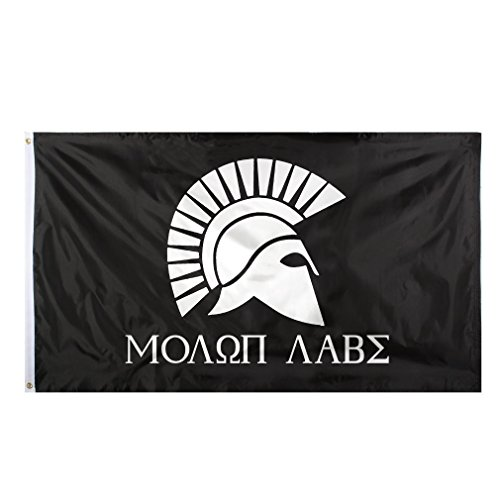 ALBATROS Molon Labe 2nd Amendment Come and Take It Military Spartan 300 3 ft x 5 ft Flag Banner for Home and Parades, Official Party, All Weather Indoors -