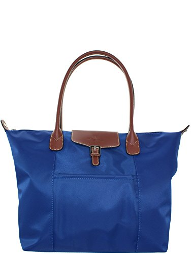 Sac shopping bleu clair Hexagona