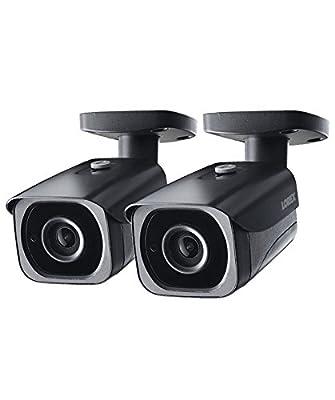 2-Pack of Lorex 8MP 4K IP Bullet Security Camera LNB8921BW, 250ft IR Night Vision by Lorex