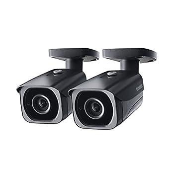 Image of 2- Pack of Lorex 8MP 4K IP Motorized Varifocal Zoom Bullet Security Camera LNB8973BW, 250ft IR Night Vision, 4X Zoom Bullet Cameras