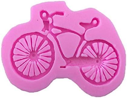 YYH Dibujos animados montaña bicicleta silicona para hornear molde cocina herramienta fondant rosa no tóxico molde de la torta: Amazon.es: Hogar