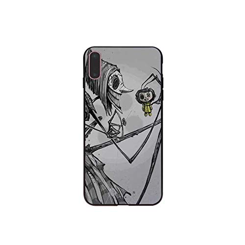Men Girls Inspired by Coraline Phone Case Compatible With Iphone 7 XR 6s Plus 6 X 8 9 Cases XS Max Clear Iphones Cases High Quality TPU Silicone For Apple Iphones- 33022471749 Coat Keyring