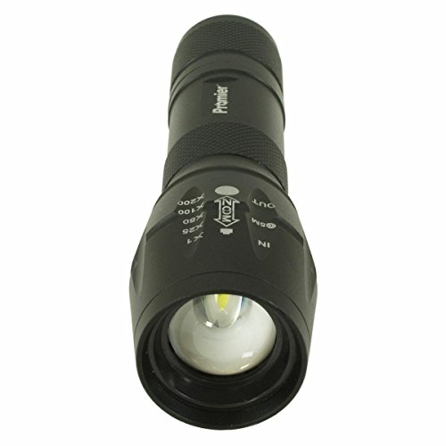 5 Mode Tactical Grade LED Flashlight with Strobe, SOS, Focus Beam and 3 Brightness Levels [Runs on 3 AAA Batteries NOT INCLUDED) (AS SEEN ON TV)