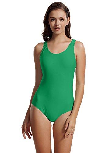 zeraca Women's Plus Size Sport Racerback One Piece Swimsuit Swimwear (XL18, Polo Match - Piece Polyester Swimsuits One