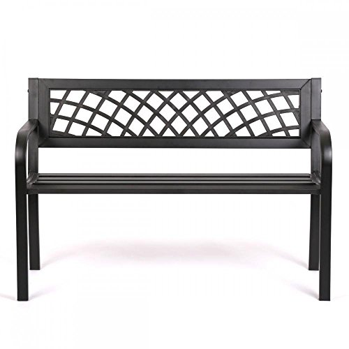 Patio Park Garden Bench Porch Path Chair Outdoor Deck Steel Frame New 545 by Tumsun