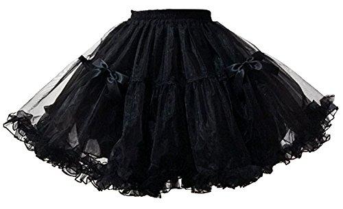 Ethel Women's Gothic Style Lolita Crinoline Petticoats with Bows for (Ethel Halloween Costume)