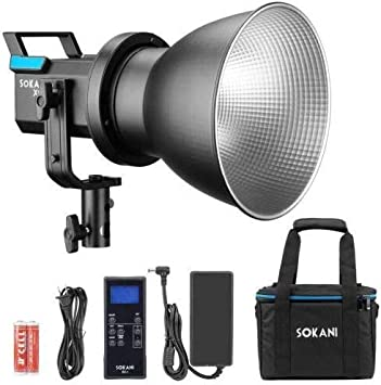 Sokani X60 LED Video Light 80W 5600K Daylight with 2.4G Remote Controller