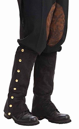 Forum Novelties Men's Adult Steampunk Suede Spats Costume Accessory, Black, One - Men Steampunk