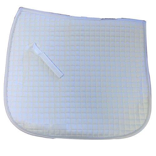 (Intrepid International Quilted Oversize Dressage Saddle Pad, White)