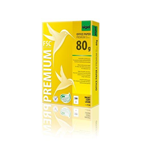 Sigel LP500 Premium Kopierpapier Laserpapier A4, 80 g, 500 Blatt, weiß