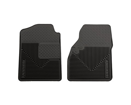Husky Liners Front Floor Mats | Heavy Duty Floor Mats Black GMC Sierra 2500 HD Classic Wt Extended Cab Pickup 2007 (Extended Duty Heavy Cab Gmc)