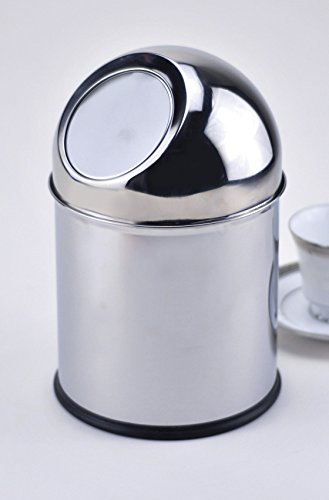 G.E.T. Enterprises SSTB-11 11'' Tall Mini Countertop Trash Can, Stainless Steel by G.E.T. Enterprises