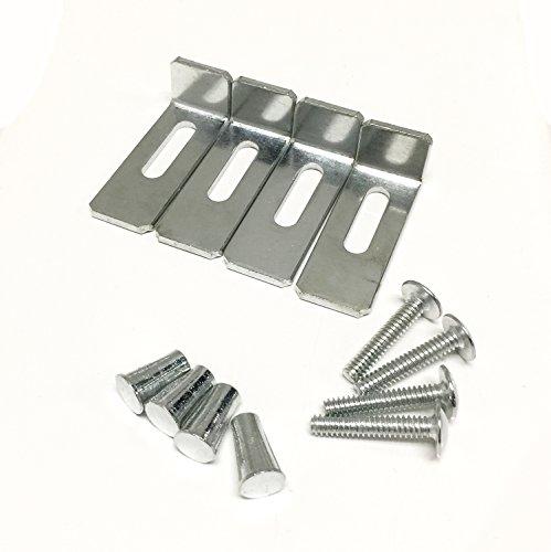 - DOWELL 6011 10 Basin Clips - Undermount Sink Brackets, Supports - 4 Pack Kit - Kitchen Sink Clips - Sink Clips - Undermount Kitchen Sink Clips