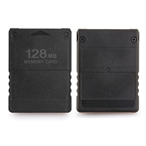 Dcolor 128 MB Tarjeta de Memoria para Sony Playstation 2 PS2 128 m, Color Negro