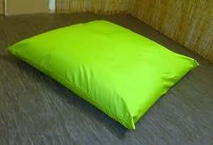 Cojín para el suelo tamaño grande con cremallera Bean Bag Bazaar - sofá cama - turquesa - tela se limpia con un paño - 120 cm x 120cms