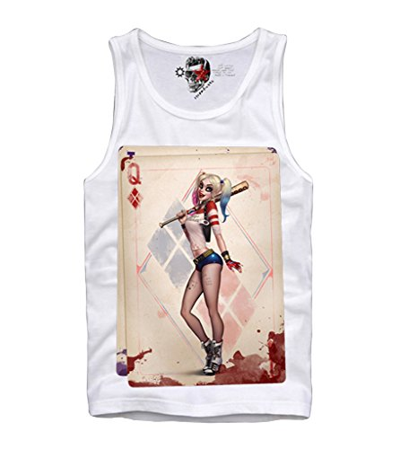 E1SYNDICATE TANK TOP SHIRT HARLEY QUINN JOKER SUICIDE SQUAD SEXY NAUGHTY PIN UP S-XL