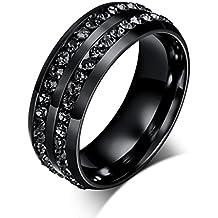 Kstare Rings,Exquisite Titanium Ring Wedding Ring for Men&Women Band 6-13,Jewelry Gift