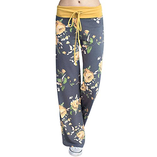 Pants for Women, FORUU Yoga Loose Casual Wide Leg Printed Full Trouser Leggings