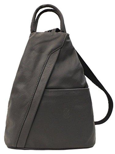 Italian Soft Shoulder Grey Rucksack Backpack Super Bag amp; Leather Dark d5zdAx