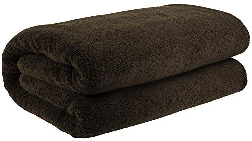 40x80 Inches Jumbo Size, Thick and Large 650 GSM Bath Sheet Cotton, Luxury Hotel & Spa Quality, Absorbent and Soft Decorative Kitchen and Bathroom Turkish Towels, Chocolate Brown (Meet The Browns Meet The Couch Potato)