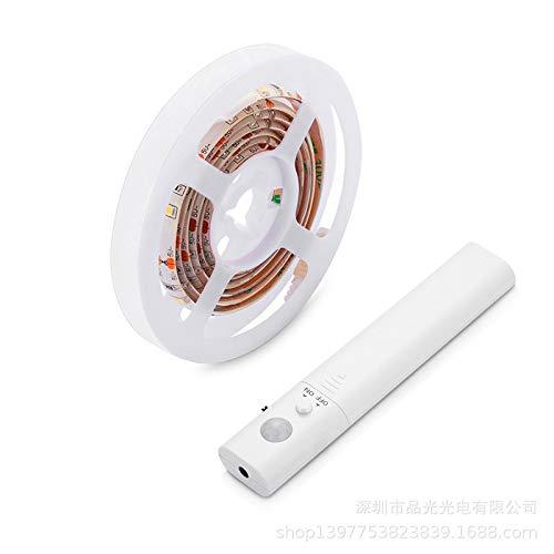 1.5M 45LED Luce LED da guardaroba con sensore di movimento, OriFiil Striscia LED Luce Notturna,3000K Bianco Caldo per Armadio,le scale,guardaroba,sotto il letto,bagno (150cm)