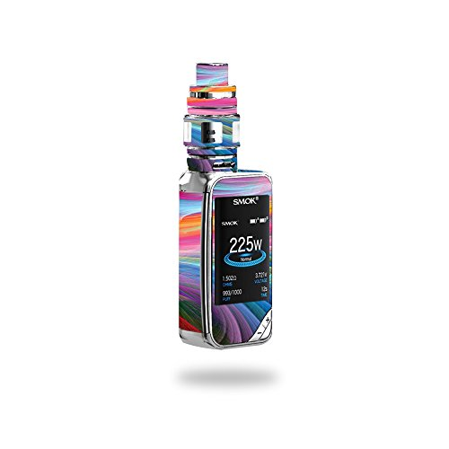 MightySkins Skin Compatible with SMOK X-Priv 225W - Rainbow Waves | Protective, Durable, and Unique Vinyl Decal wrap Cover | Easy to Apply, Remove, and Change Styles | Made in The USA