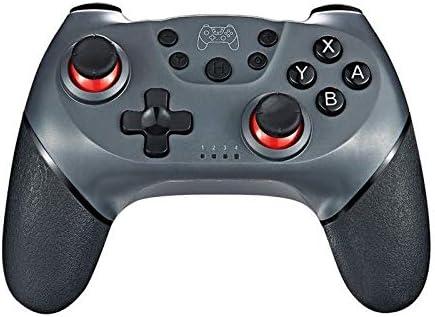 ZBBH ワイヤレスBluetoothゲームパッド用Nintendは、6軸ハンドルとスイッチコンソールの場合プロNS-スイッチProのゲームジョイスティックコントローラを切り替えます (Color : Silver)