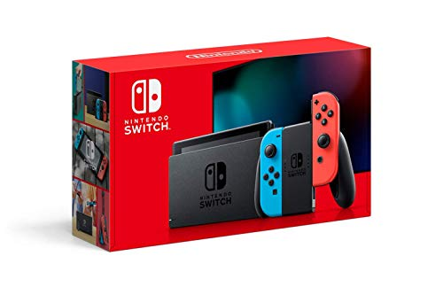 Nintendo Switch with Neon Blue and Neon Red Joy‑Con – HAC-001(-01) (Renewed)